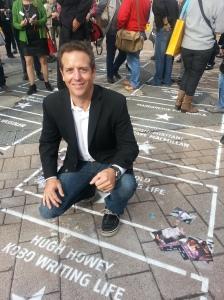 Hugh on his Walk of Fame Star