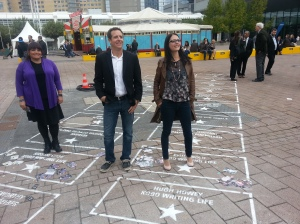 Kristie, Hugh and Emily with their Walk of Fame stars