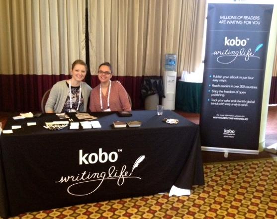 US Manager Christine Munroe and Merchandiser Shayna Krishnasamy man the KWL table.