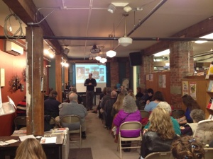 KWL Director Mark Lefebvre presents a workshop on digital publishing alongside Rob Slater at Village Books.