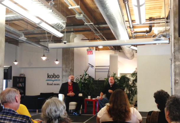 Kevin J. Anderson sat down for a chat with KWL Director Mark Lefebvre at the Kobo office