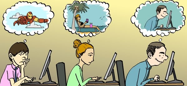 This is how a writer daydreams!
